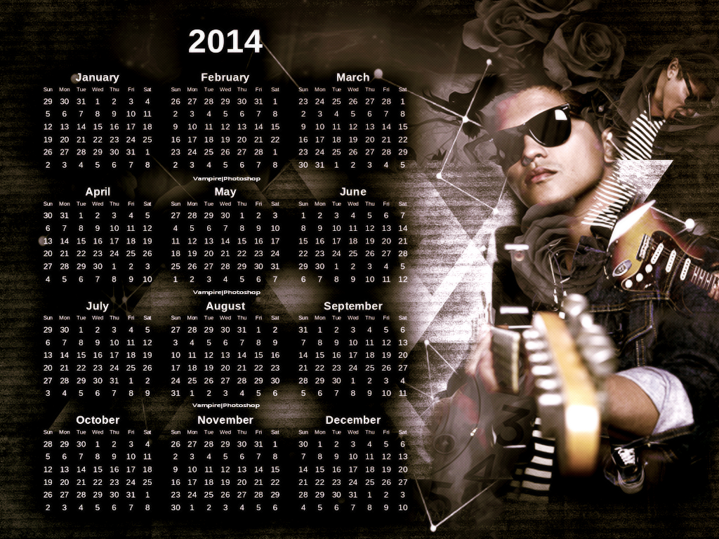 Bruno Mars Calendar By Onedirectionelif On DeviantArt