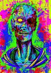 Vivid color zombie - Comission