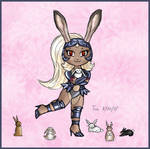 Chibi Fran Likes Bunnies by Kittensoft