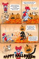 School Bites Halloween Strip by Kittensoft
