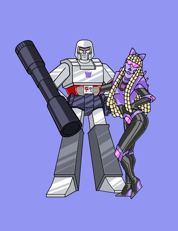 Megatron and Gagatron by Kittensoft