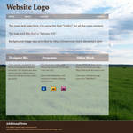 Field-themed Web Layout by Kittensoft