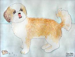 Watercolor Ozzy by Kittensoft