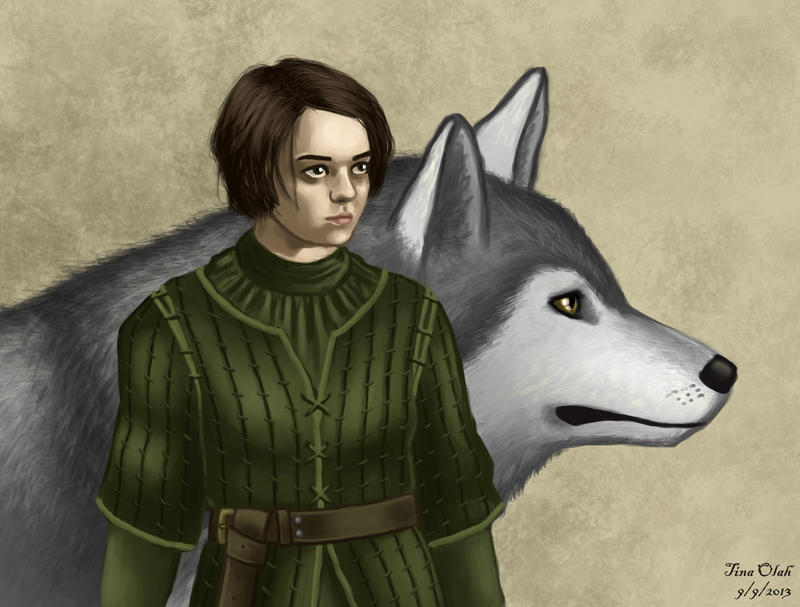 The Girl and the Wolf by Kittensoft