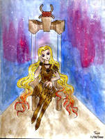 Galaxia On Her Throne by Kittensoft