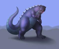 RAWR it's Godzilla! by Kittensoft