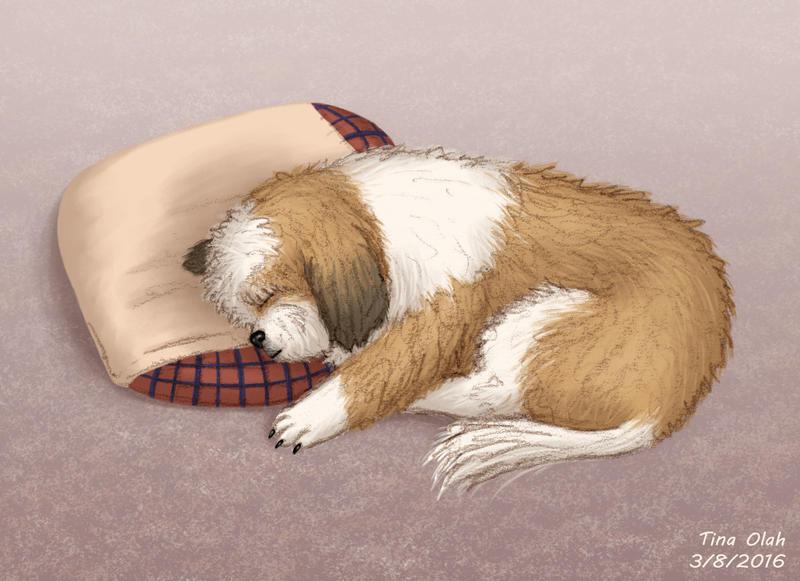 Sleeping Ozzy by Kittensoft