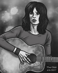 Mick Jagger with a Guitar