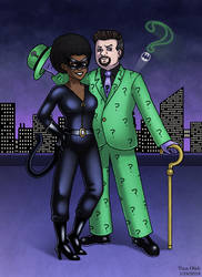 Natko as Catwoman and The Riddler