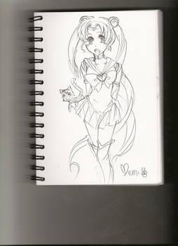 Sailor moon with Luna