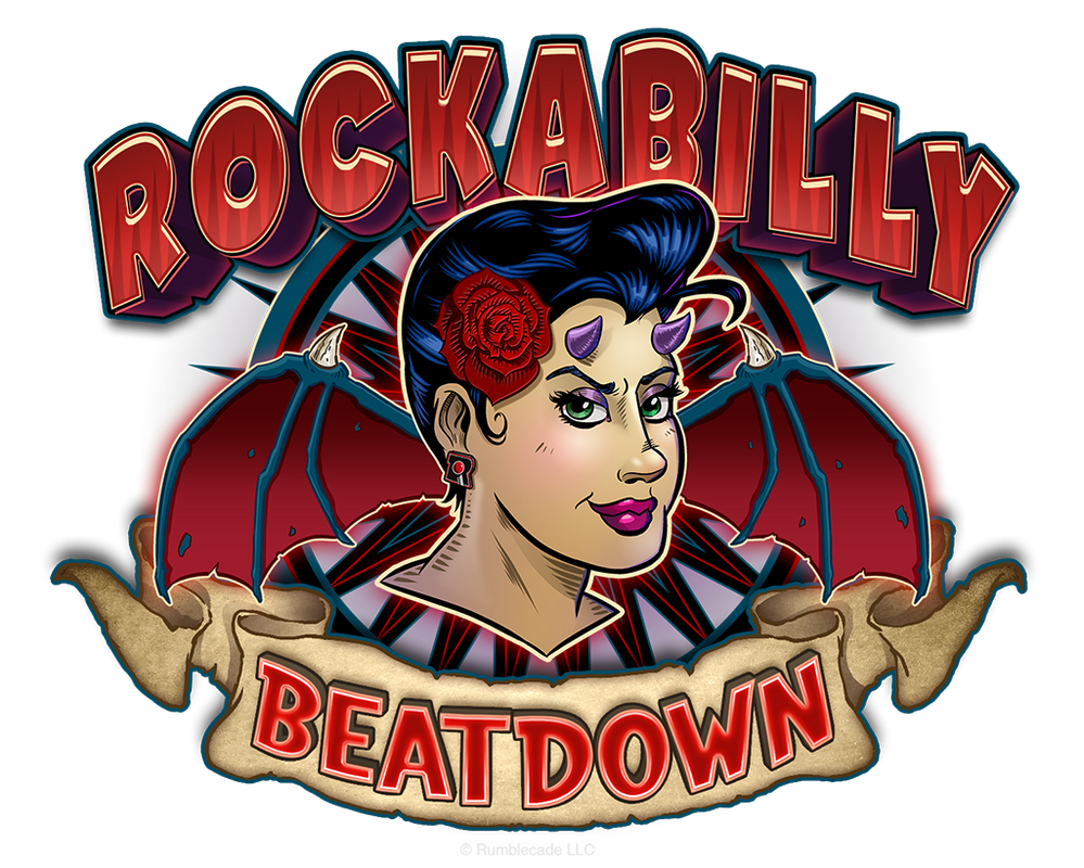 Rockabilly Beatdown, official game logo by SuperEdco