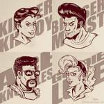 Rockabilly Beatdown Hero Portraits