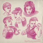 Rockabilly girls sketches