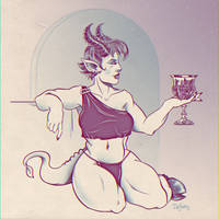 Demoness with Goblet by SuperEdco