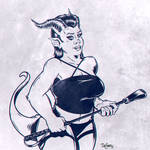 Demoness with Riding Crop by SuperEdco