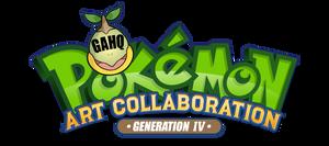 Pokemon Gen IV Art Collaboration Logo