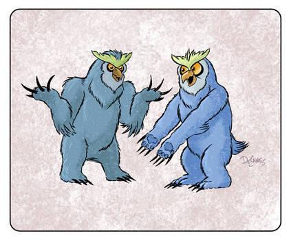 Arguing Owlbears