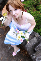 Aerith : flower in the slums by princess-soffel