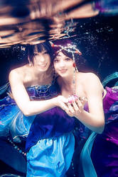 Love Live: Umi and Nozomi mermaids by princess-soffel