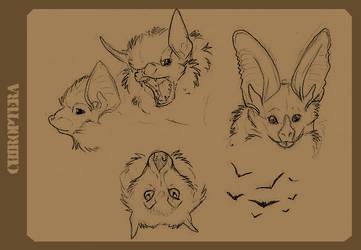 Bat Sketchies by aureath