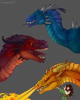 Dragon Practice by aureath