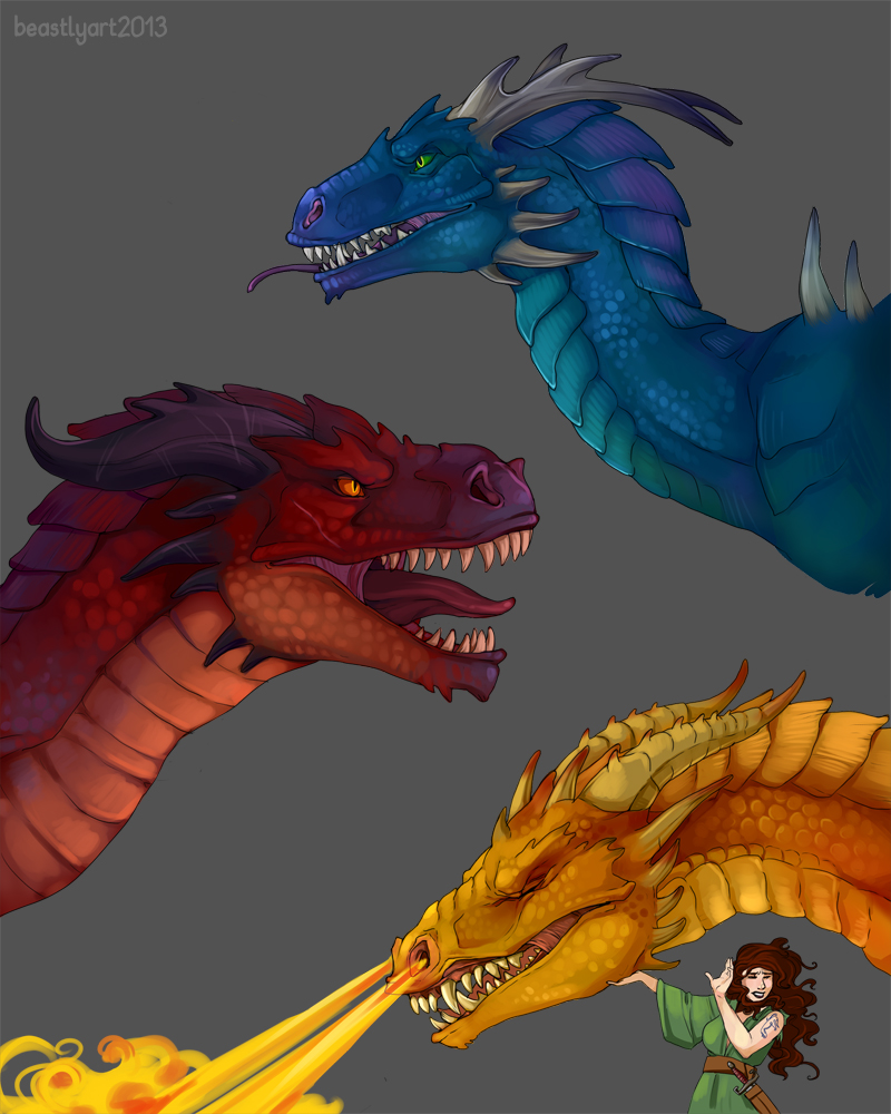 Dragon Practice by aureath