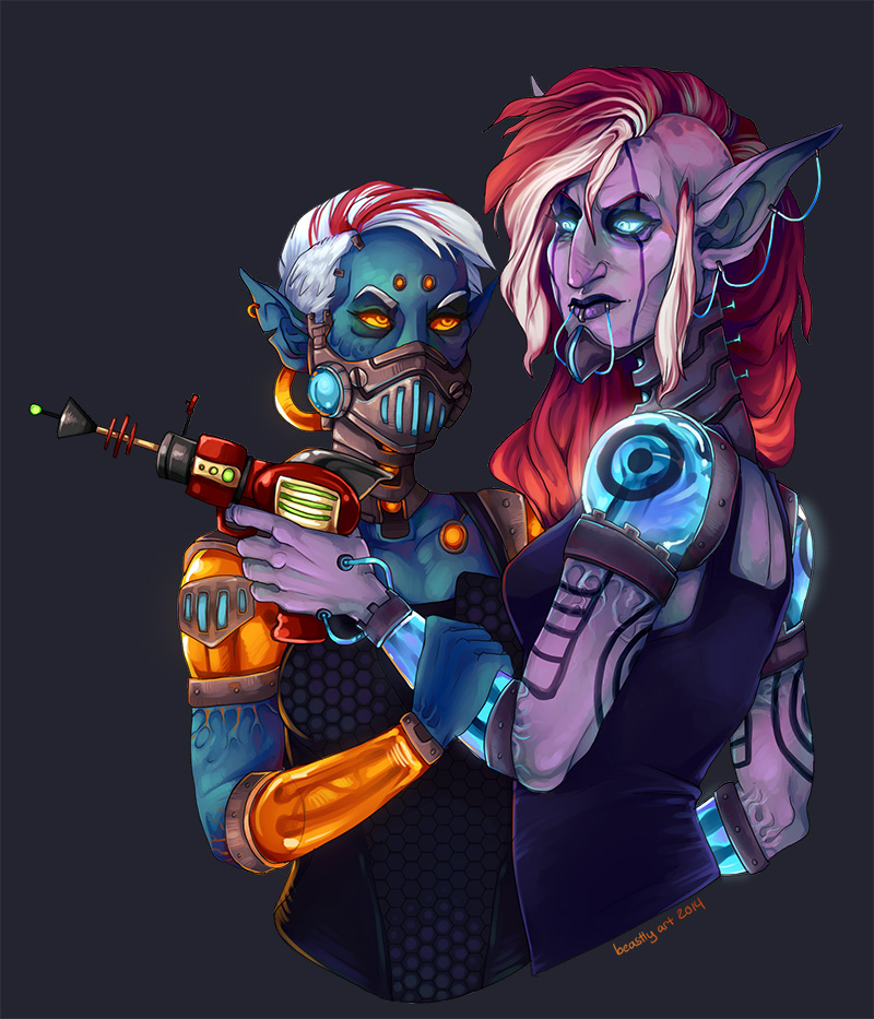 Put Your Ray Gun To My Head by aureath