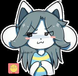 Temmie E4 - Emoji Challenge by TakoKat