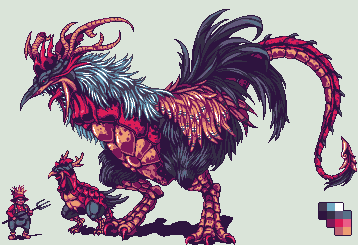 King of the chickens by Pixelturtle