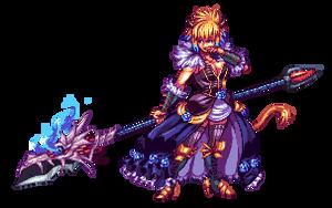 Commission - Dragon lance by Pixelturtle