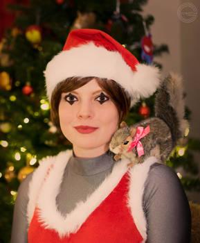 Christmas Squirrel Girl
