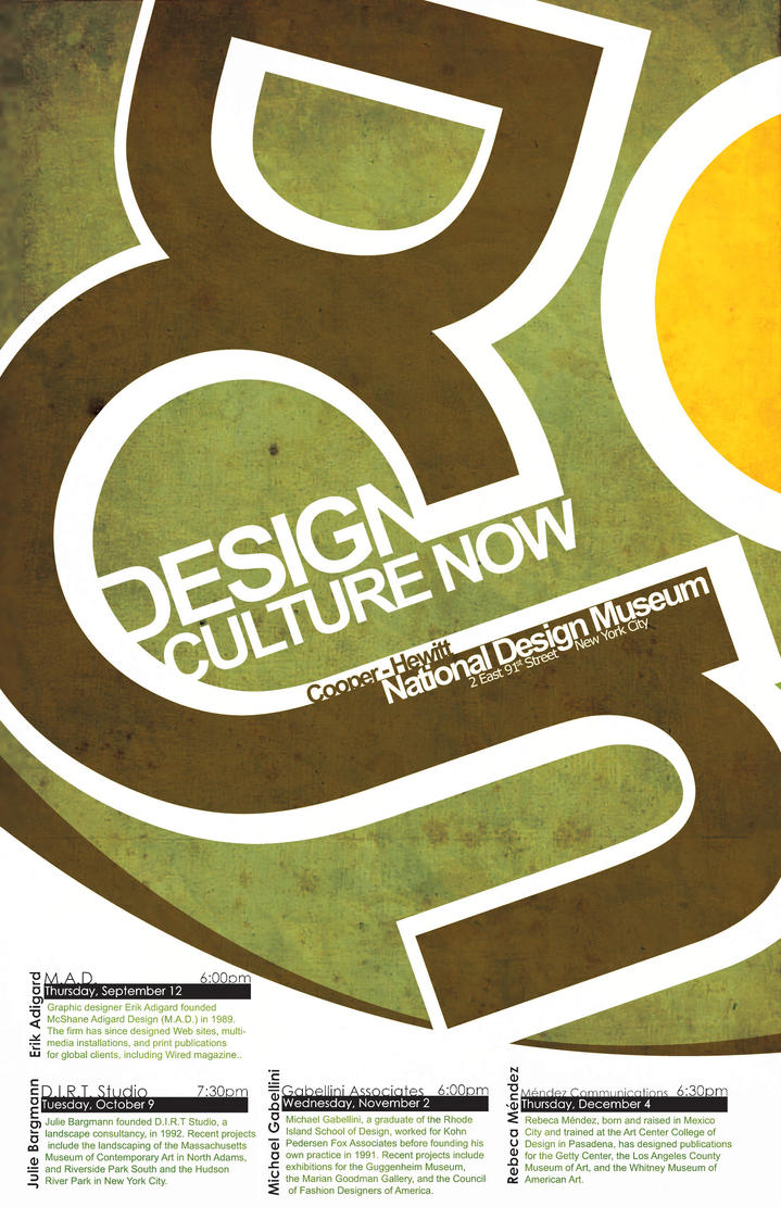 Poster design blog - Design Culture Now Poster 2 By Emn1ty