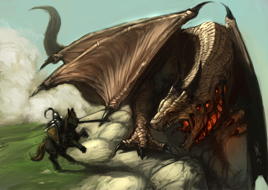 Dragon And Knight By Zoppy On DeviantArt