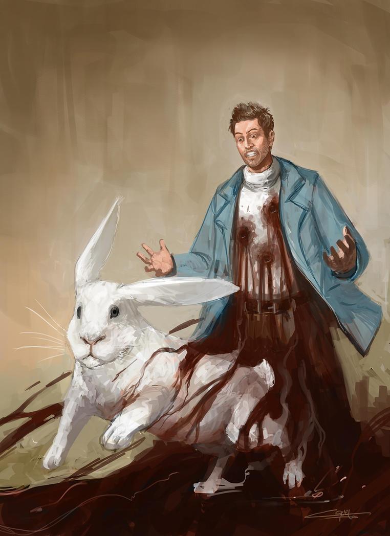 Daryl Dark white rabbit run by zoppy