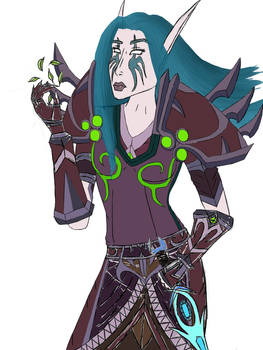 Nelf druid sketch