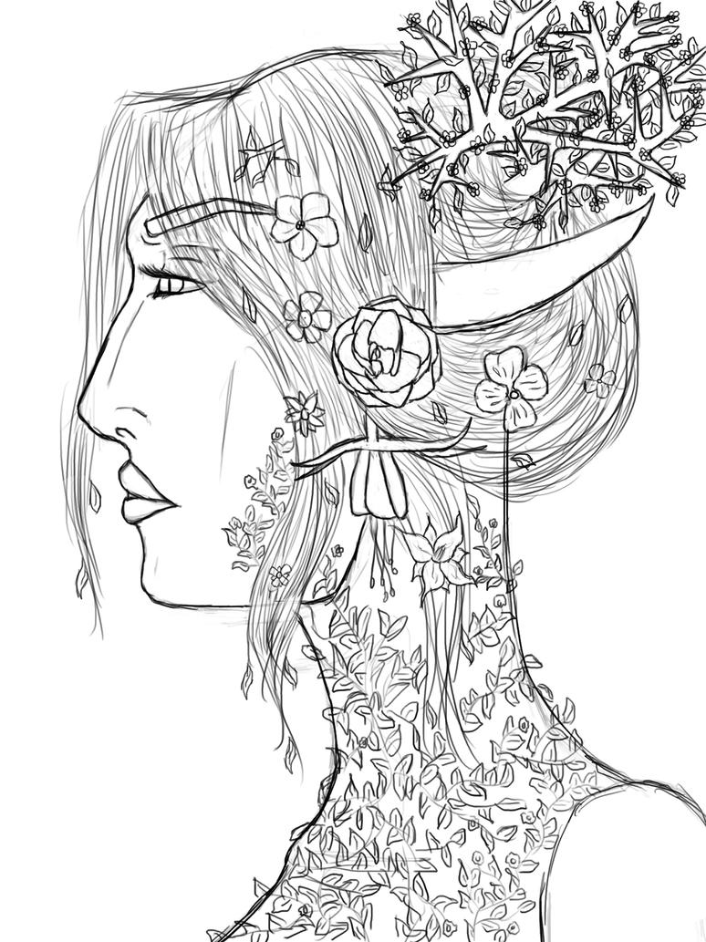 Mother Nature ( Sketch ) by Sithis666 on DeviantArt