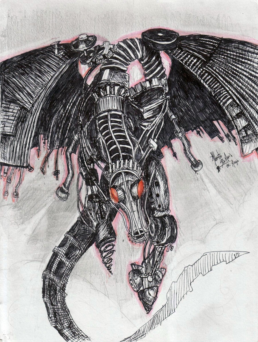 Scrap dragon by txnxrt2 on DeviantArt