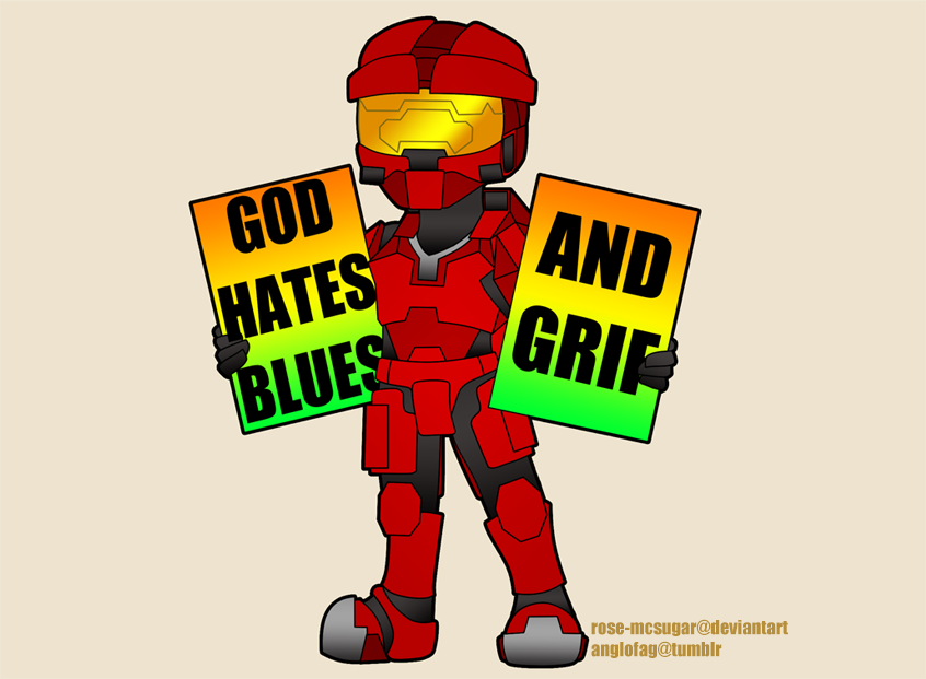 RvB: Sarge Protests by Rose-McSugar