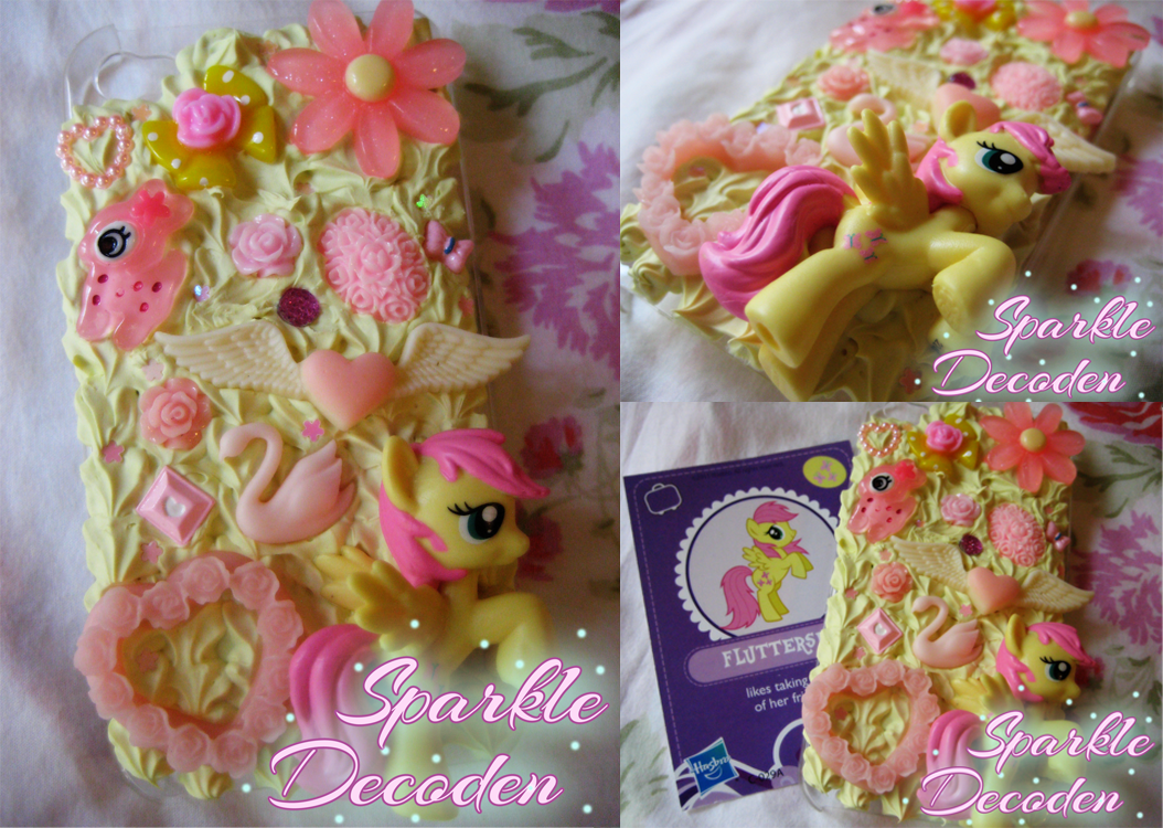 Decoden Iphone Case Fluttershy iphone 4 case