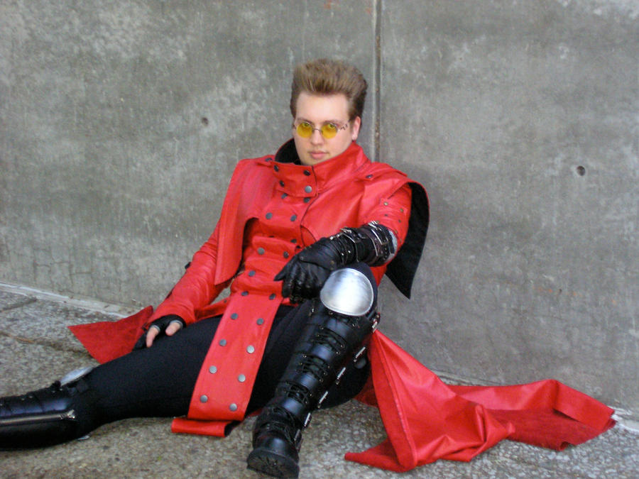 Vash Cosplay-Wall Photoshoot 1 by BreakdownFreak