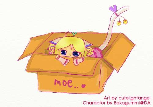 [Request] Neko in a box by cutelightangel