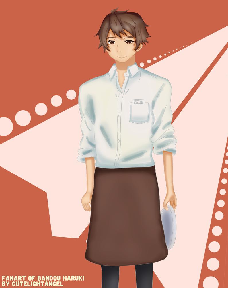[Fanart] Bandou Haruki (cafe ver.) by cutelightangel