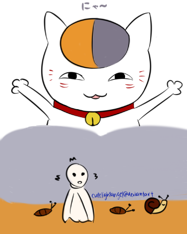 [Fanart] Nyanko-sensei by cutelightangel