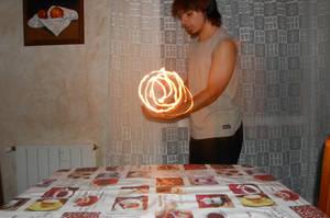 Light-painting: Fireball by DracRoig