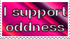I Support Oddness Stamp by 666qqq666