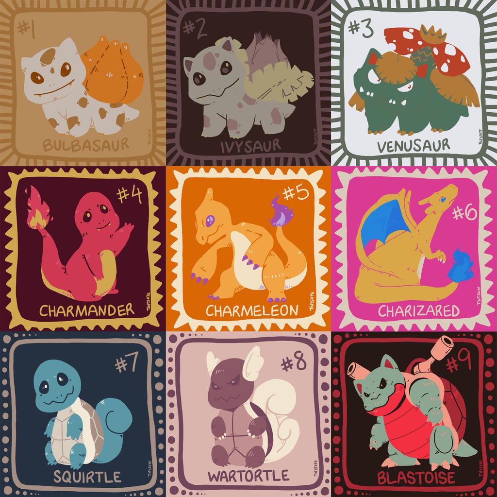 Pokemon Color Palette Challenge 1-9 by TinySkye