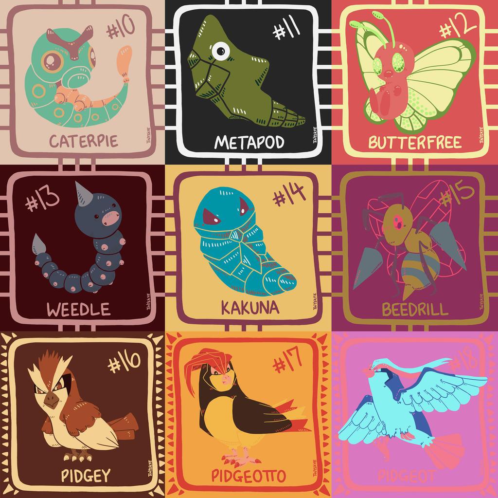 Pokemon Color Palette Challenge 10-18 by TinySkye