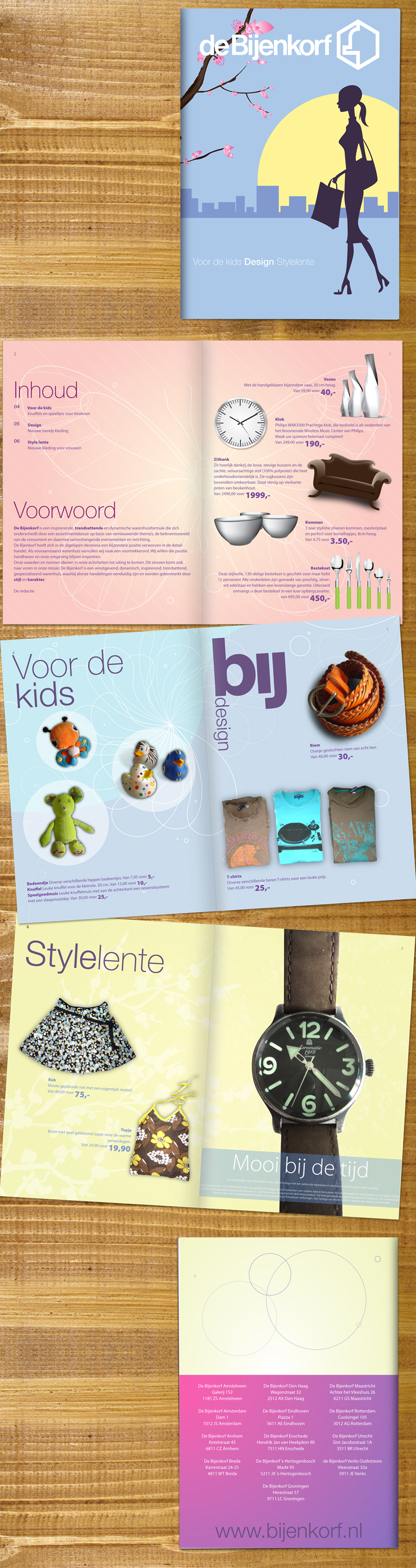 De Bijenkorf brochure school by JaxeNL