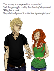 The Mortal Instruments: Don't Touch My Weapons by LittleLazyLion