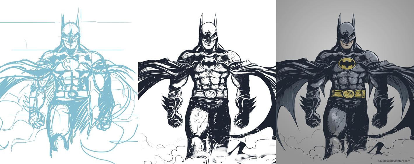 Michael Keaton s Batman Fanart by pauldesu